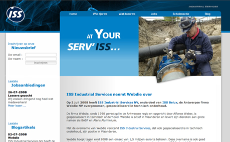 ISS Industrial Services website screenshot