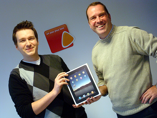 Winnaar iPad: Julien Collin
