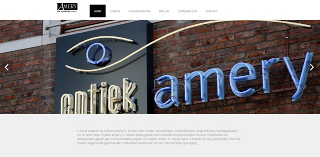 Website Optiek Amery