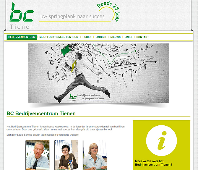 Look website Bedrijvencentrum Tienen