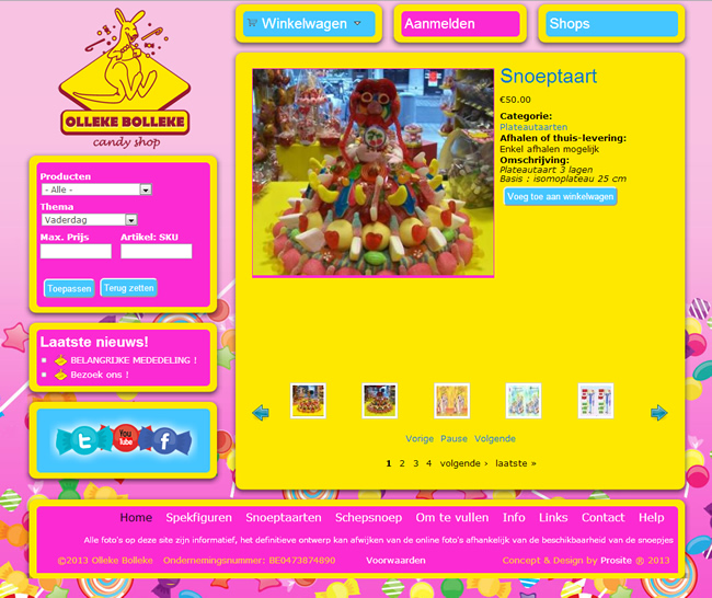 Screenshot website Olleke Bolleke
