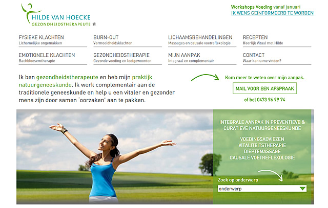 Hilde Van Hoecke website
