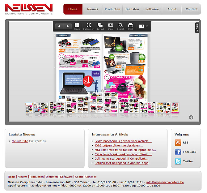 Screenshot Nelissen Computers website