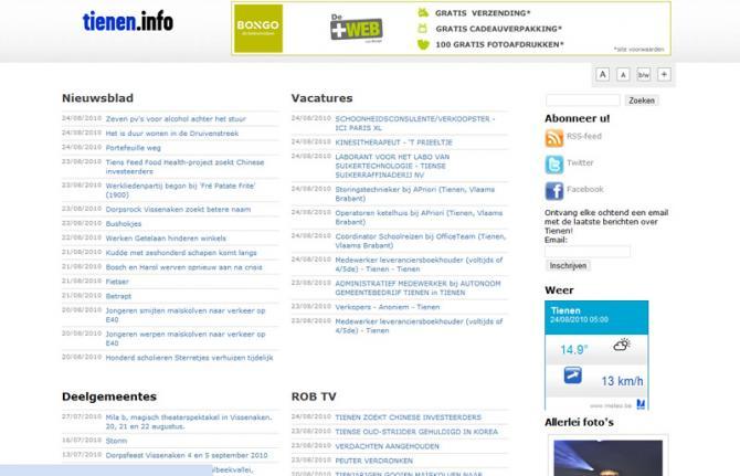 tienen.info screenshot