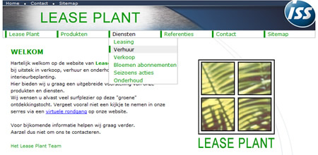 Lease Plant website