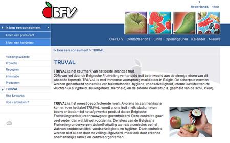 Screenshot website Belgische Fruitveiling
