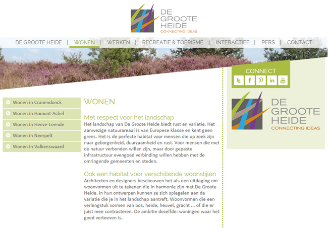Website De Groote Heide
