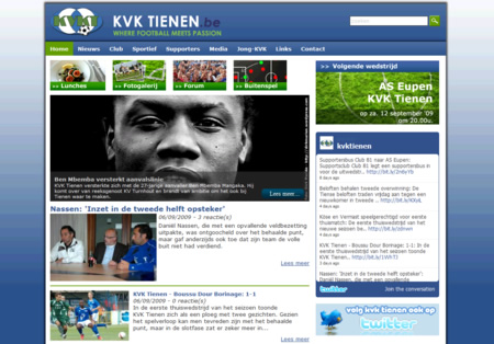screenshot KVK Tienen website