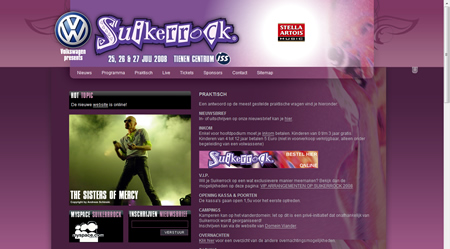 Suikerrock 2008 website