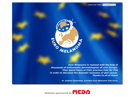screenshot Euromelanoma website