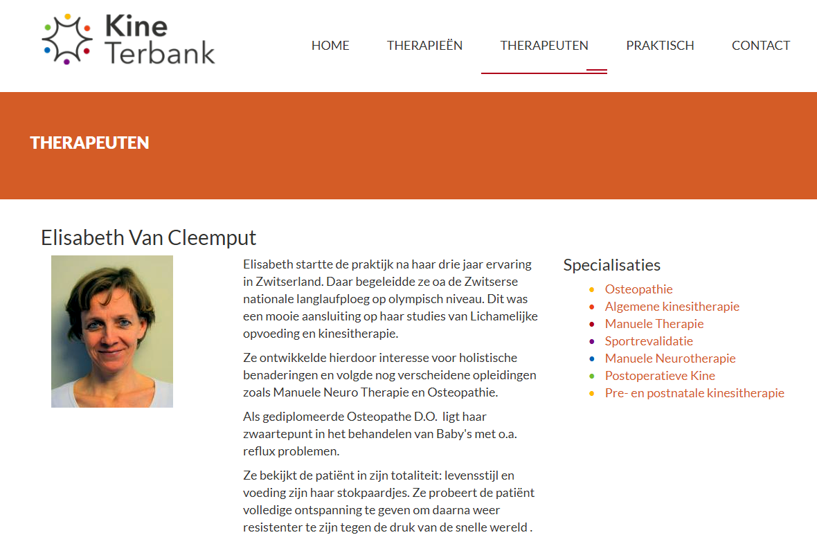 Screenshot Kine Terbank website