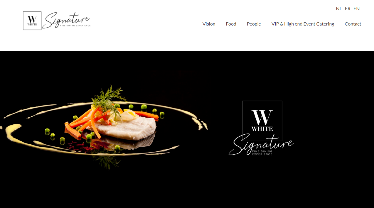 White Signature website
