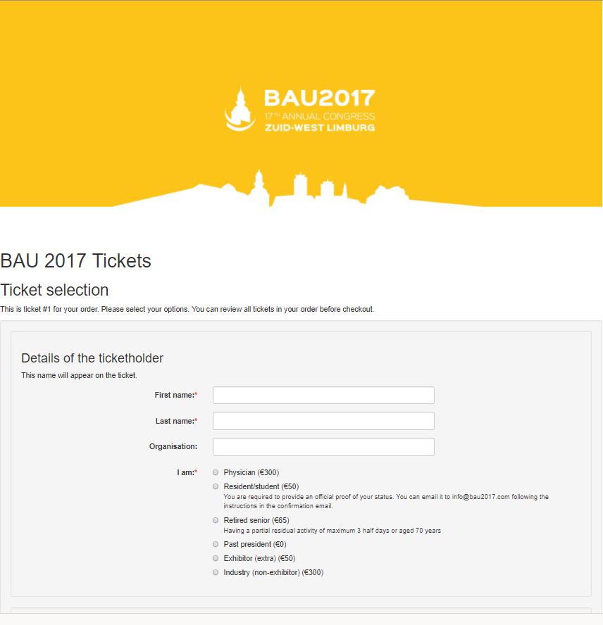 BAU2017 tickets