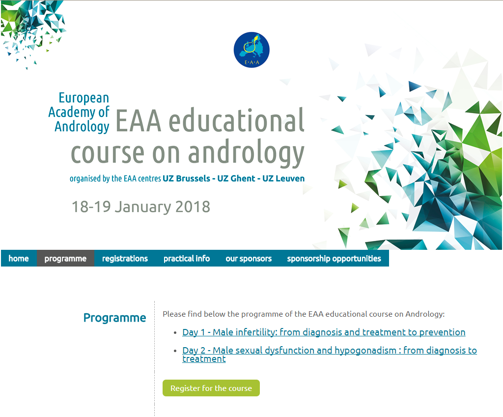 European academy of andrology EAA course