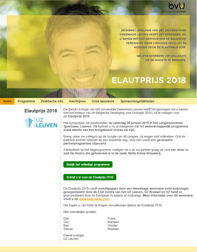 screenshot Elautprijs website
