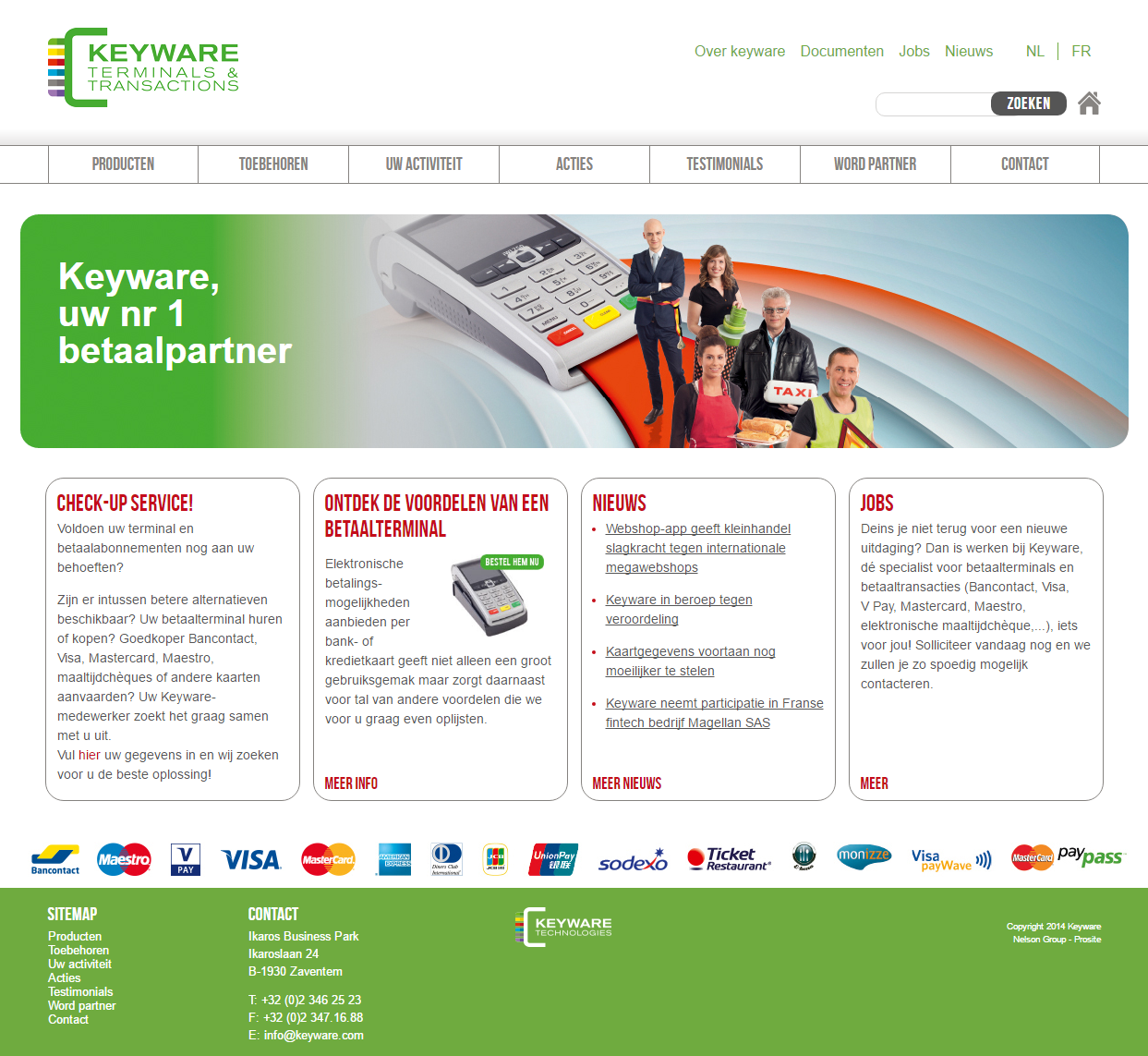 Keyware Terminals & Transactions website screenshot