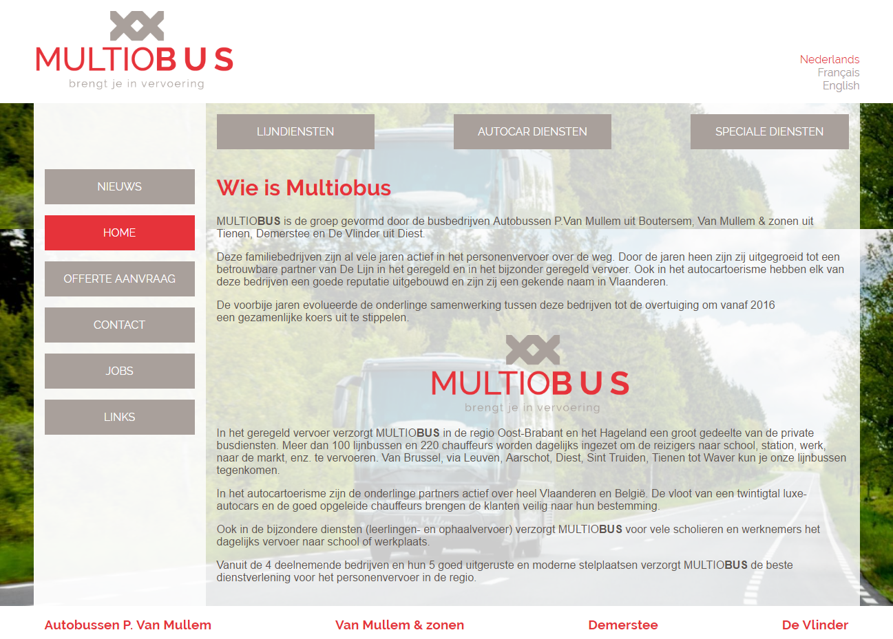 Multiobus website screenshot