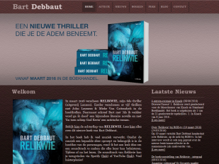 Bart Debbaut website screenshot