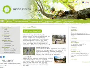 Website De Hoge Rielen screenshot