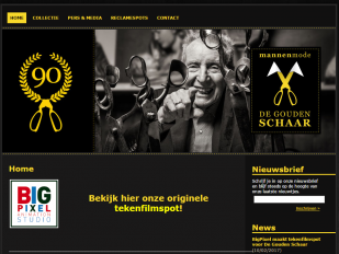 De Gouden Schaar website screenshot