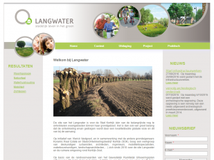 Langwater website screenshot