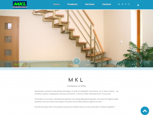 MKL Grating website screenshot