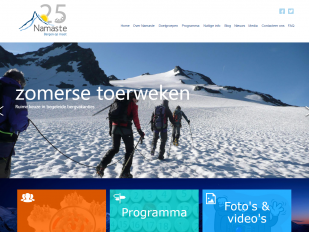 Namasté Mountainguides website screenshot