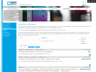 NICC website screenshot