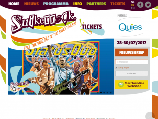 Suikerrock website screenshot