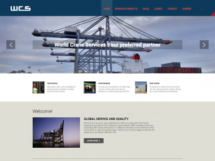 World Crane Services website screenshot