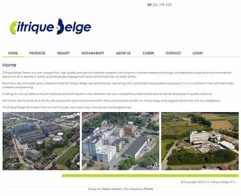 Website Citrique Belge screenshot