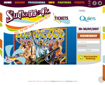 Website Suikerrock screenshot